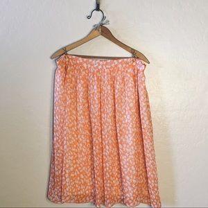 Sherbert Orange Pleated Skirt
